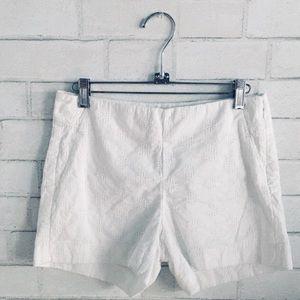 Banana republic white embroidered shorts